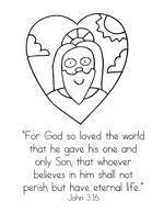 John 3 1 21 Jesus Met Nicodemus Preschool Bible Verse Cards For