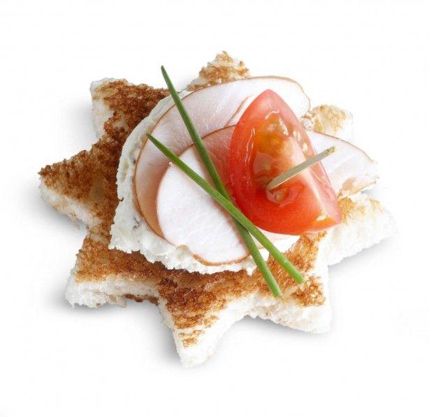 Sterrentoast Een leuk hapje voor de kerst. Voor ontbijt, lunch of hapje bij de borrel. #hapjes #borrel #lunch