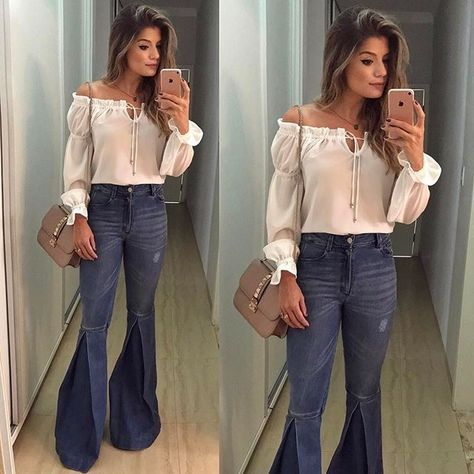 {Friday } Look by @anahovastore E o jeans mais lindo da vida, daqueles que super alongam!  In Love! • #ootn #selfie #lookdanoite #blogtrendalert