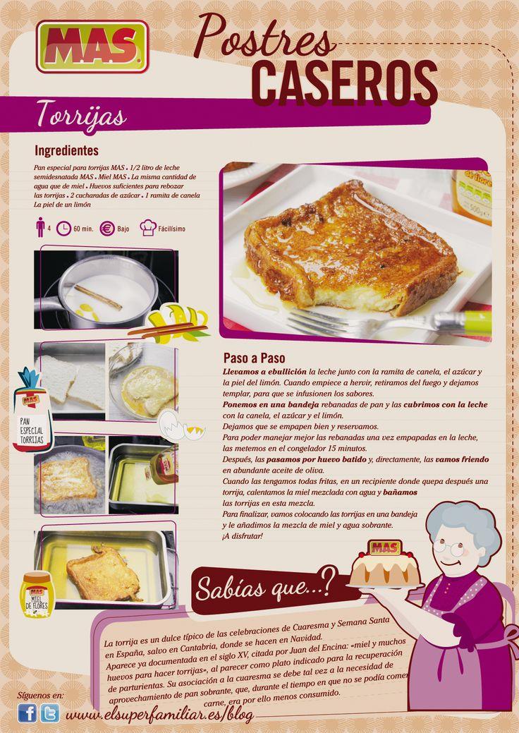 Receta De Torrijas | Supermercados MAS Blog