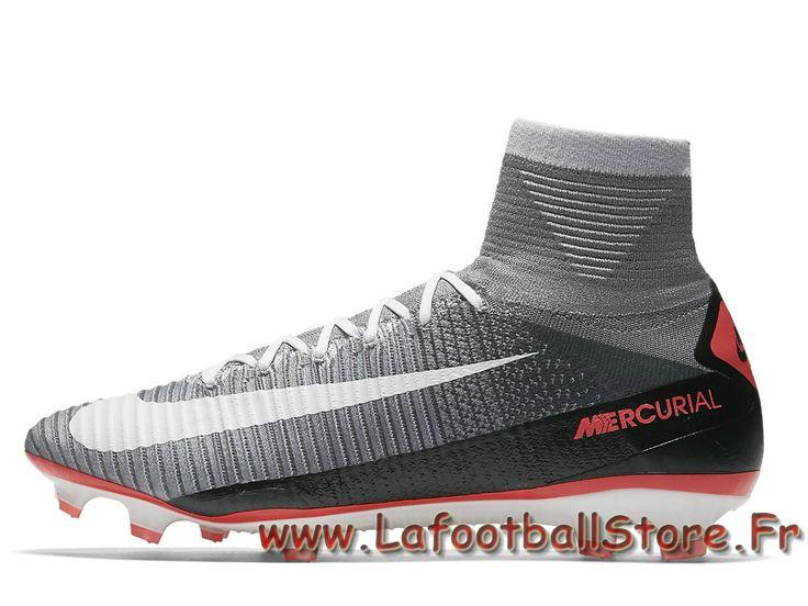Nike Mercurial Superfly V FG Chaussure de football à crampons pour terrain sec pour Homme Gris loup 852512_010 - 1706110770 - Chaussures de Foot | officielle Maillots | lafootballstore.fr