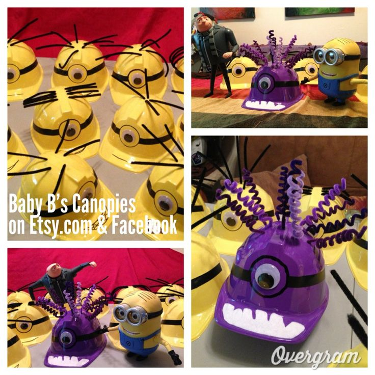 Despicable me Birthday Party/Play Hat  Mutated by BabyBsCanopies, $10.00