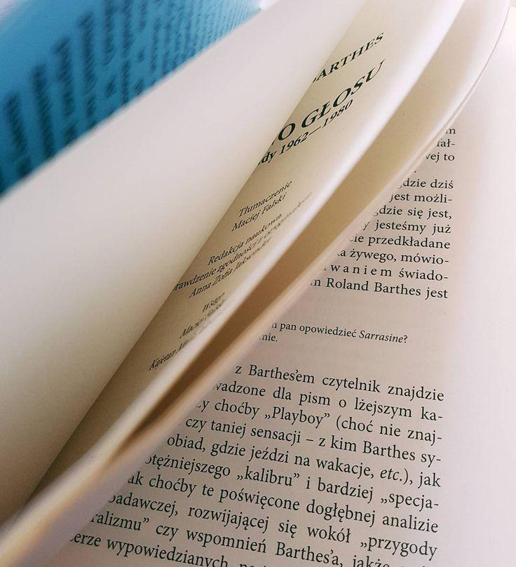 """Jedyny i niepowtarzalny Roland Barthes i świeżo wydane """"Ziarno głosu"""" .   #barthes #rolandbarthes  #czytam #terazczytam #książka #książki #vscopoland #vzcopoland #books #book #read #reading #reader #instagood #vscocam #filozofia #philosophy #niedziela  @wydawnictwo_eperons_ostrogi"""