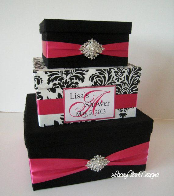 Bridal Shower Card Box Event Party Card by LaceyClaireDesigns, $110.00