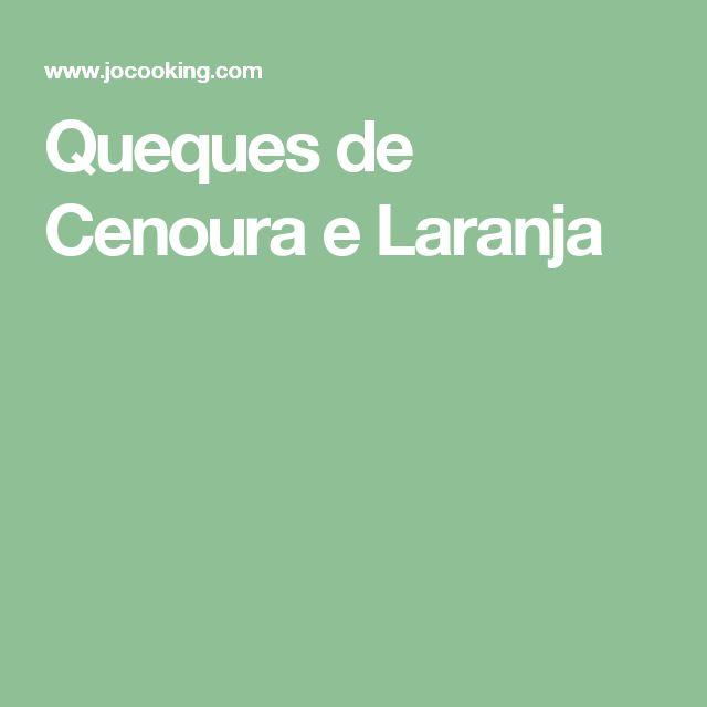 Queques de Cenoura e Laranja