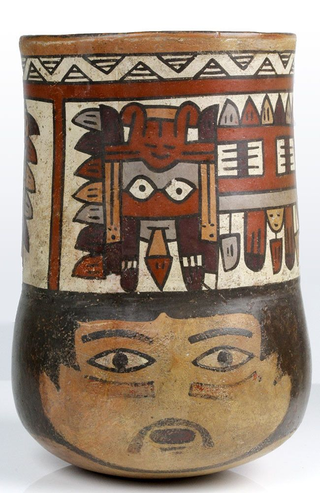 A Nasca Terracotta Kero, Southern Peru, ca. 350 - 400 AD   Sands of Time Ancient Art
