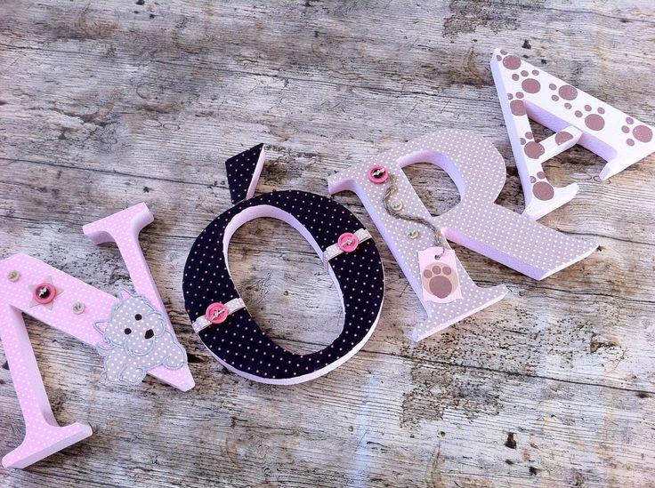 NÓRA egyedileg díszített polisztirol habbetűk igény szerinti színvilággal és egyéni/egyedi stílusban rendelhetők.  A betűk 19cm magasak és a 3cm szélesek. #### name, letters handmade, baby, gift ,név, betűk, kézzel készült, bébi, ajándék...