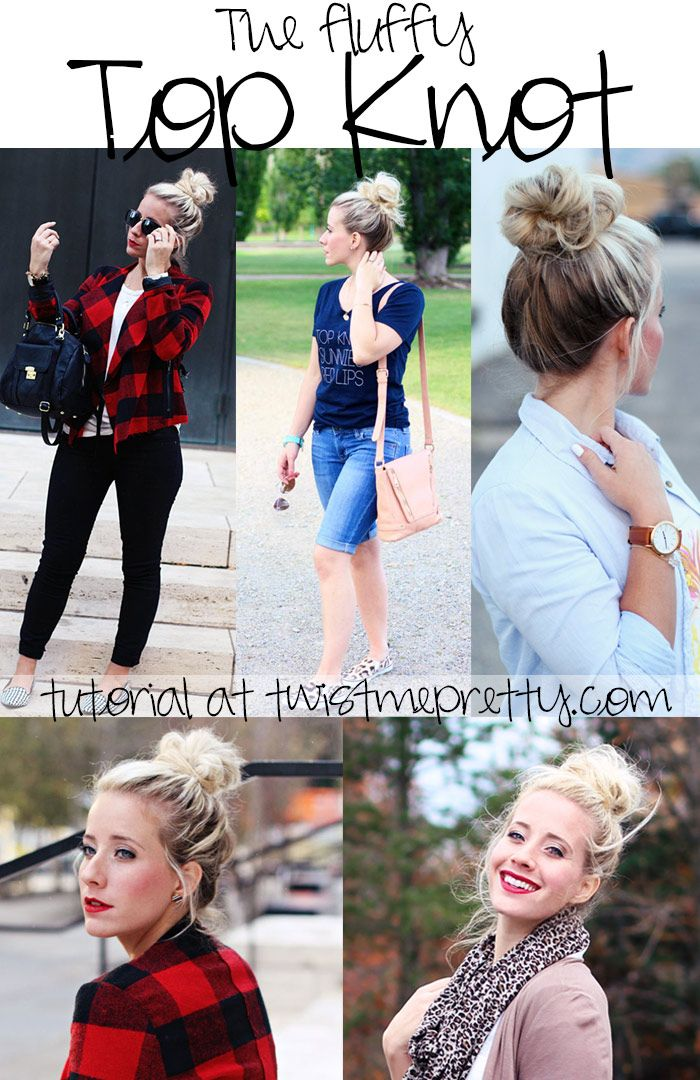 how to make a bun with long hair without pins