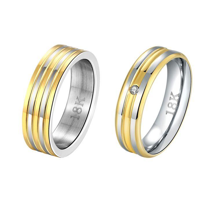 1 Пара роскошный старинный золотой цвет ясно CZ новый дизайн бесконечность обручальные кольца обручальные кольца наборы для женщин и мужчинкупить в магазине Rose Fashion Jewelry CO., LTD.наAliExpress
