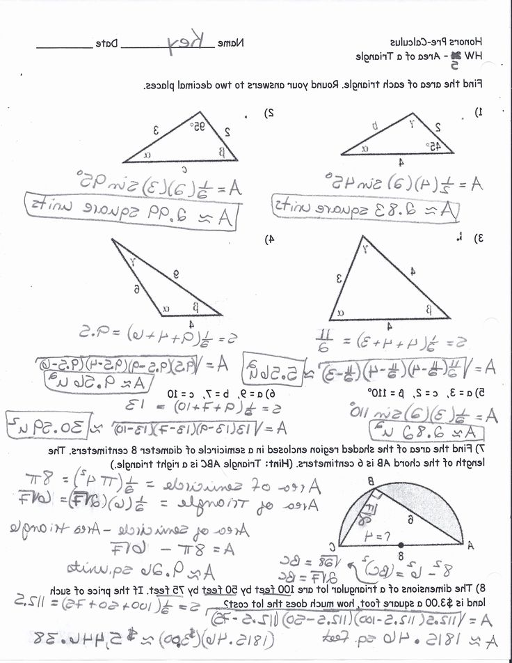 50 Right Triangle Trig Worksheet Answers in 2020