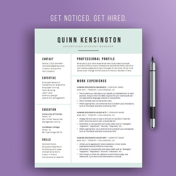 Professional and Modern Resume Template for Microsoft Word QUINN  ★ PC and Mac Compatible ★ ★Instant Download Resume/CV Template★   WHAT YOU GET WITH THIS PURCHASE: ★ Fully Editable Resume Template in Word (US Letter Size) ★ Second Page Resume Template ★ Professional References Template Page ★ Cover Letter Template (Multi-use cover letter also functions as thank you note and business letterhead)   - - - - - - - - - - - - - - - - - - - - - - - - - - - - - - - - - - - - - - - - - - - - - S...