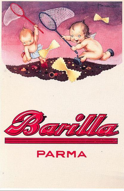 postcard - adv - pasta - 1931 by sonobugiardo, via Flickr