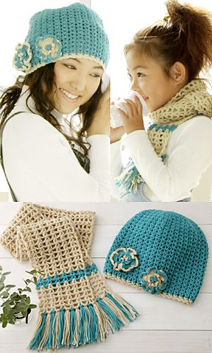 Crochet Hat and Scarf Pattern-Ravelry
