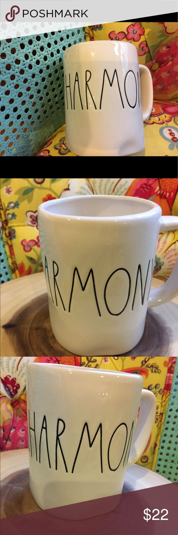 Rae Dunn Harmony Mug Big Letter New Rae Dunn  Harmony Big letter mug  No chips or cracks  Mother's Day Graduation Teacher Music   Packed with care   Rae Dunn clay Farmhouse chic Country Magnolia Rae Dunn Other