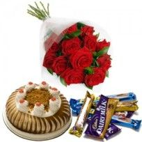 Buy Cake, Flowers and Chocolate Online and Send it to Bagalore, India