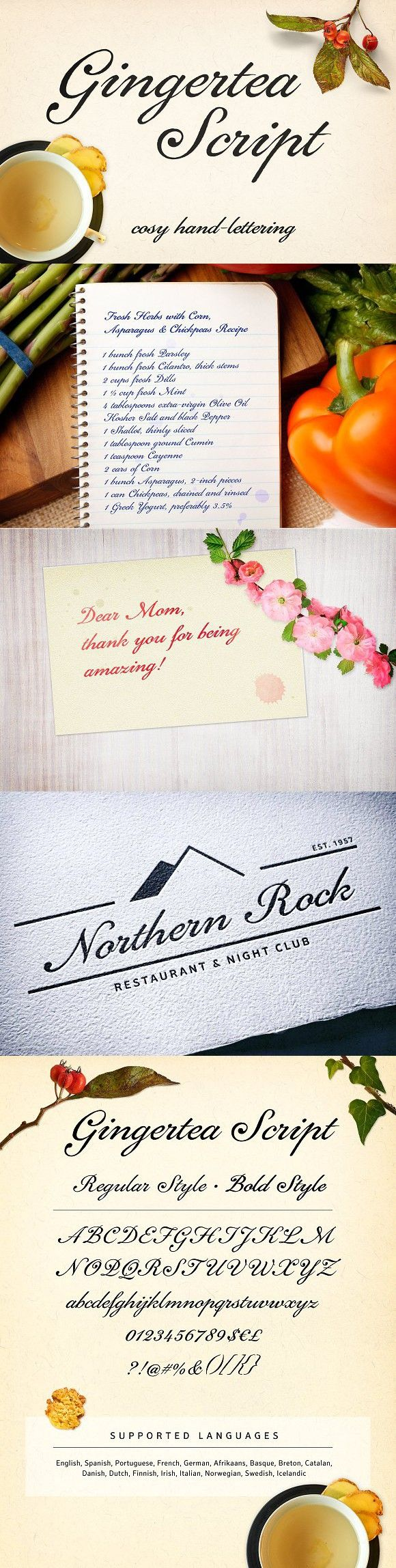 cursive fonts for wedding cards%0A Gingertea Script Font  Script Fonts            Wedding FontsWedding CardsSmileRomantic