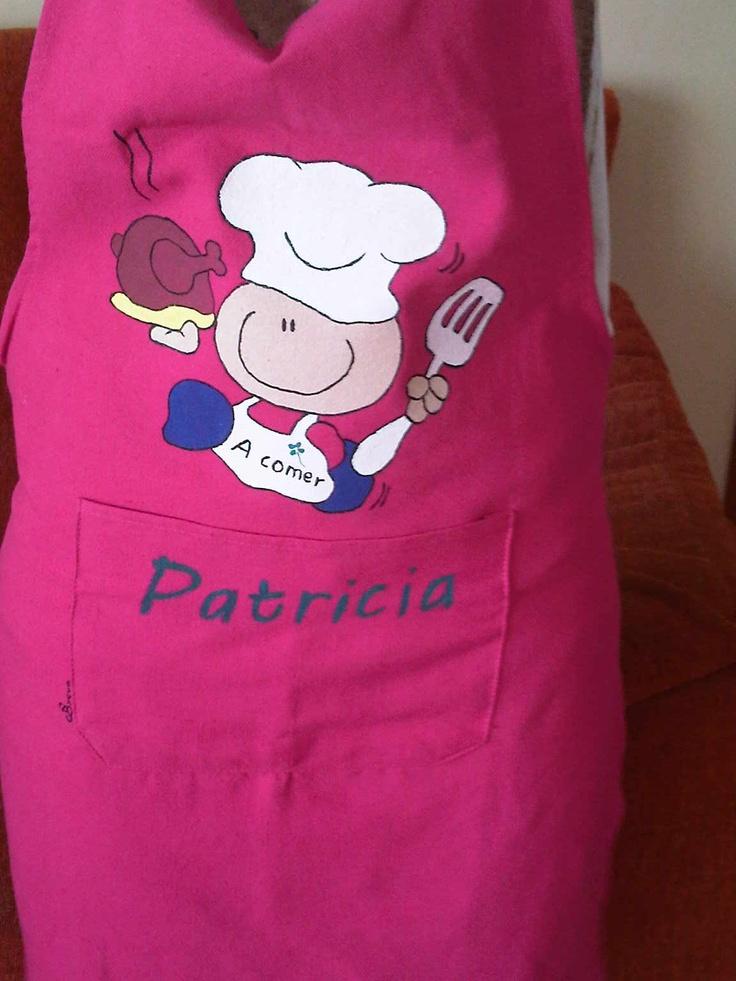 Delantales pintado a mano delantales pinterest search - Pintura para cocina ...