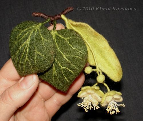 Felted leaves and blossoms by ulli4ka                                                                                                                                                     More
