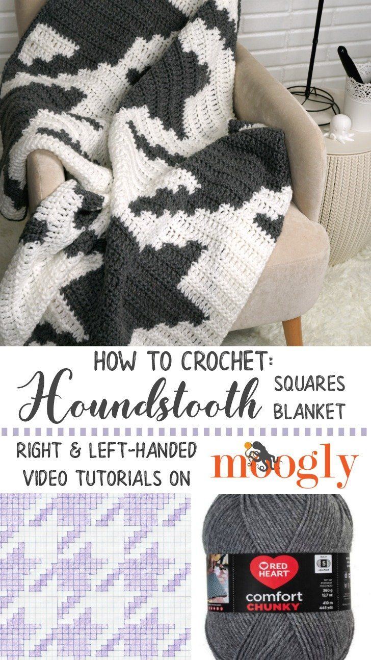 Houndstooth Squares Blanket Tutorial | New, New Free Patterns ...