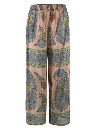 Printed pants, yes please: Woman Pants, Trousers 125, Sisters, Printed Pants, Sister Bengale, Bengale Orange, Paul Joe, Orange Trousers