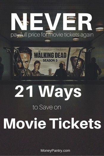 21 Ways to save on movie ticket prices
