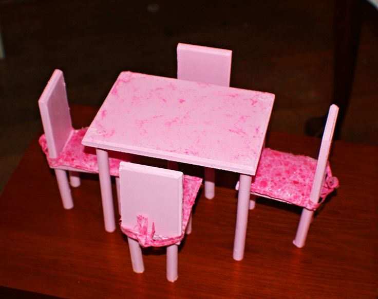 Diy Barbie Dining Room Table Amp Chairs This Was A First