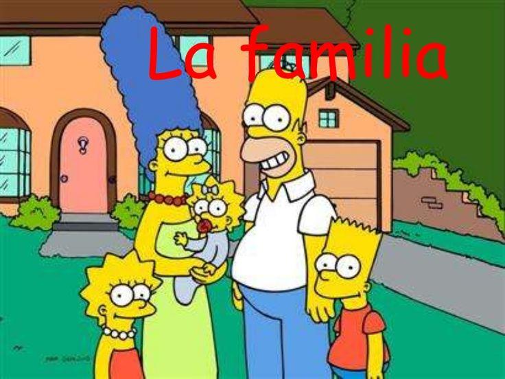Vocabulario de la familia en español. Slideshare con vocabulario con la familia Simpson