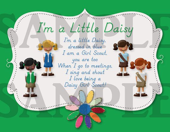 Girl Scouts I'm a Little Daisy Printable by CapturedbyJessPrints, $7.00