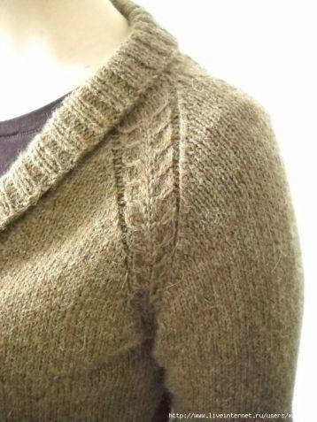 Как вязать реглан от горловины или вязание реглана сверху.