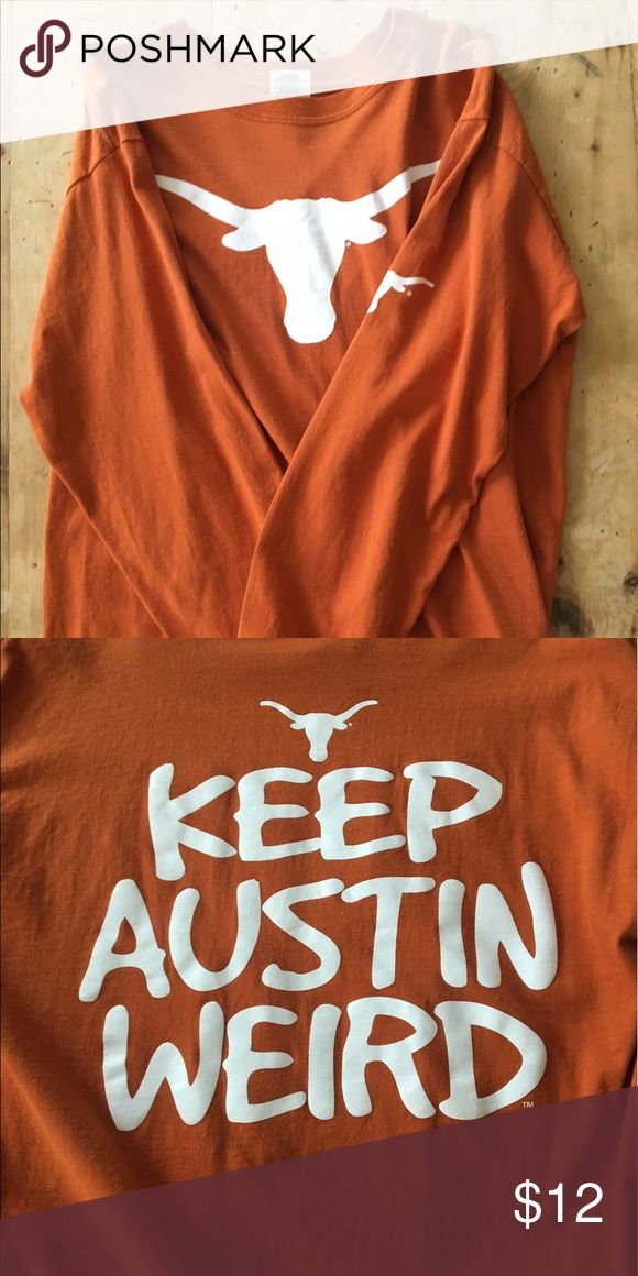 University of Texas t shirt UT UT kind sleeves shirt. only worn a few times Tops Tees - Long Sleeve