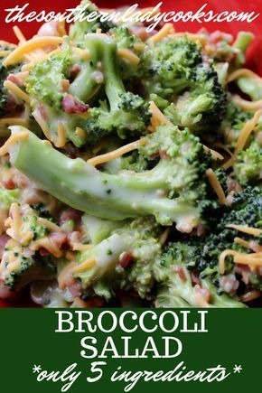 EASY BROCCOLI SALAD - The Southern Lady Cooks | Recipes to
