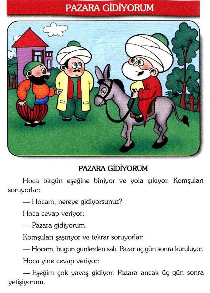 Турецкий язык с Ходжой Насреддином. Для начинающих. Есть словарик.
