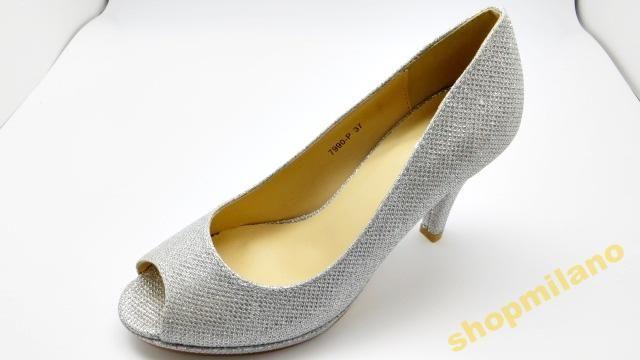 Czółenka peep toe szpilka 7990-P Silver rozm36-41 http://allegro.pl/czolenka-peep-toe-szpilka-7990-p-silver-rozm36-41-i3455305466.html