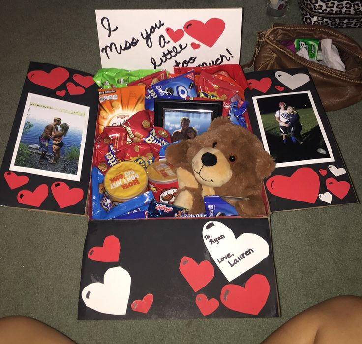 "My boyfriend left for college and I thought it would be a cute idea to send a ""care package"" right to his dorm room!"