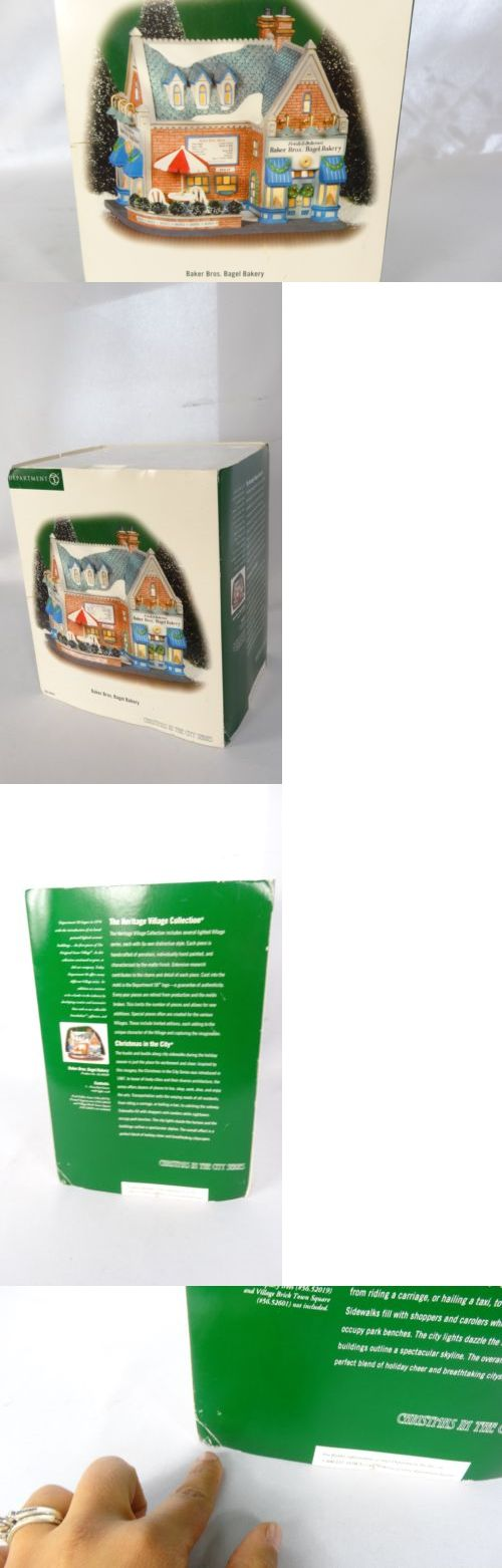 Christmas Collectible Department 56: New In Box Department 56 Christmas In City Baker Bros. Bagel Bakery #58920 BUY IT NOW ONLY: $49.95