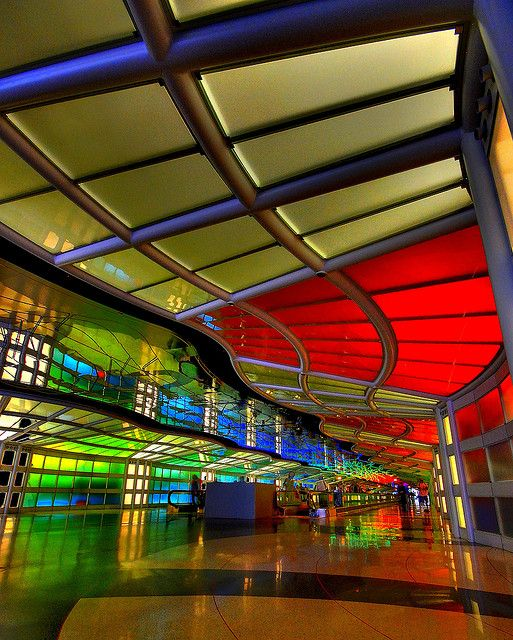 O'Hare Airport terminal in Chicago, USA