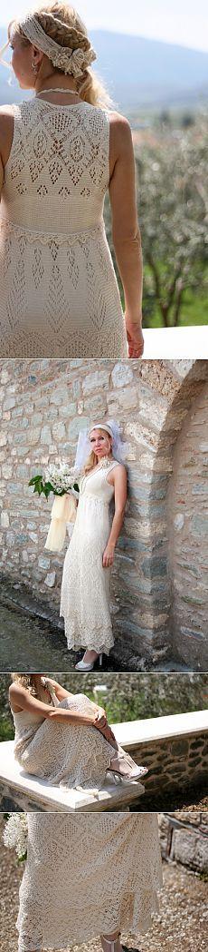 Летнее платье, связанное спицами. / Вязание спицами / Вязание для женщин спицами. Схемы