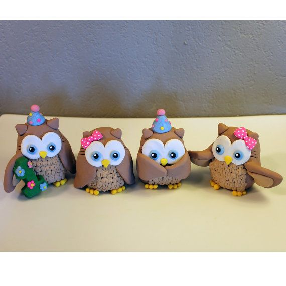 Custom Owl Cake Topper for Birthday or Baby Shower by carlyace, $44.95