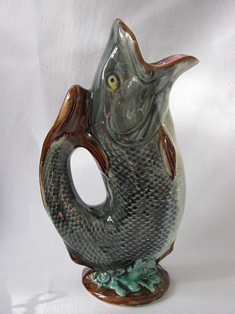 17 best images about majolica on pinterest vienna pottery and umbrella stands - Fish pitcher gurgle ...