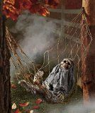 Interactive Skeleton in Hammock spooky Halloween decoration sound-activated