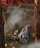 Interactive Skeleton in Hammock spooky Halloween decoration sound-activated