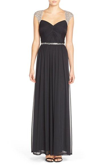 Adrianna Papell Embellished Ruched Jersey Gown available at #Nordstrom