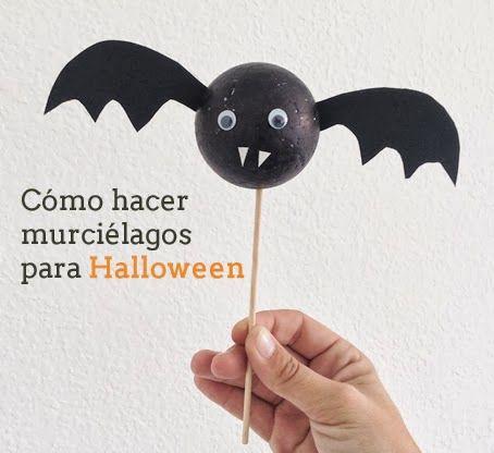 Manualidades: Cómo hacer murciélagos para decorar