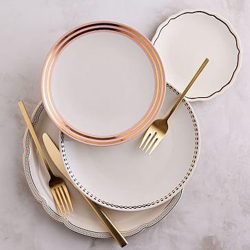 Fishs Eddy Gilded Dinnerware  #westelm