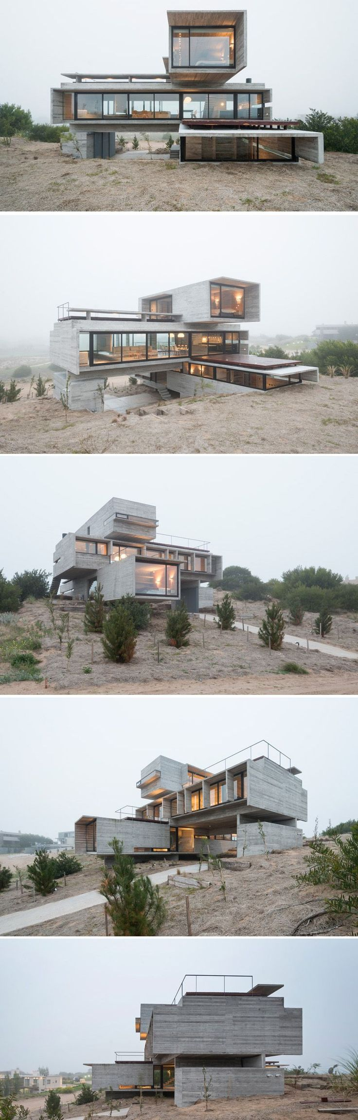 Architect Luciano Kruk designs a house made of three stacked forms of rough unfinished concrete overlooking a golf course in Argentina There are 10 things you should do and 10 you should not do when building with shipping containers. With rising cost of building, more and more people want to do DIY projects. One of the easies ways is to add Shiiping Container Homes to your DIY list.
