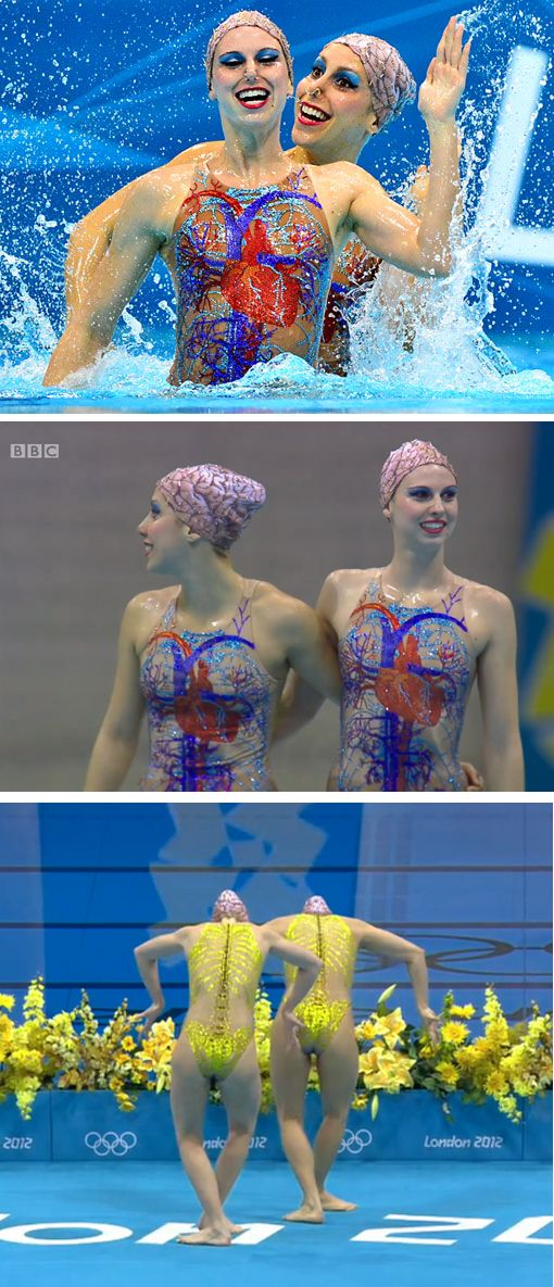 Brazilian Synchronised Swimming Anatomical Costumes