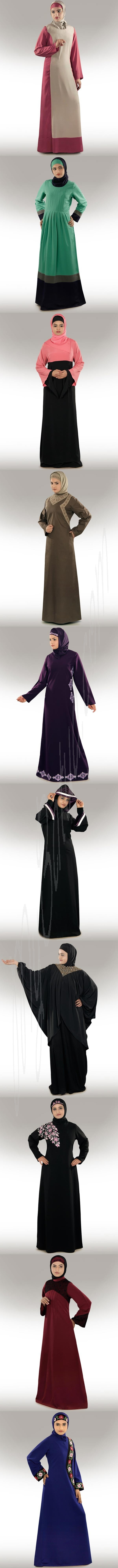 Abayas, Modern, Designer, Traditional Islamic CLothing, Party, Occasion, Formal, Casual Daily Wear in Blue, Black, Red, Purple, Pink, Brown, Cream, Available From Size XS to 7XL, Customize Length.  http://www.mybatua.com/womens/abaya?limit=all