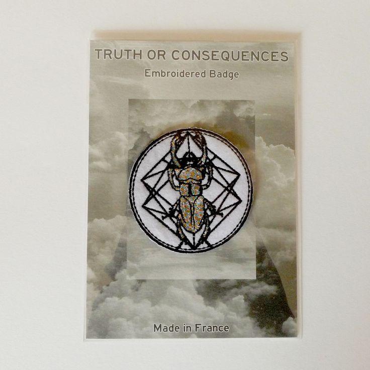 Ecusson TRUTH OR CONSEQUENCES Badge Beetle Scarabée brodé : Ecussons, appliques par truthorconsequences