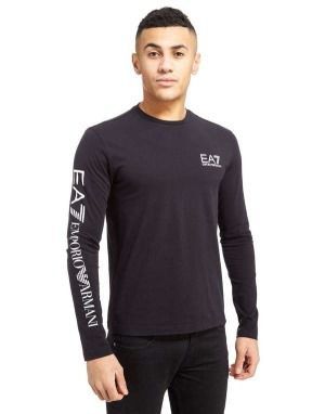 edabc1721c57 The Latest Emporio Armani Ea7 Sleeve Logo Longsleeve T-Shirt (Black) - Mens