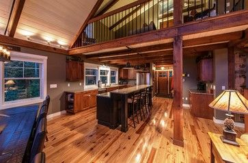 Moose Ridge Lodge Post and Beam - rustic - kitchen - other metro - Yankee Barn Homes